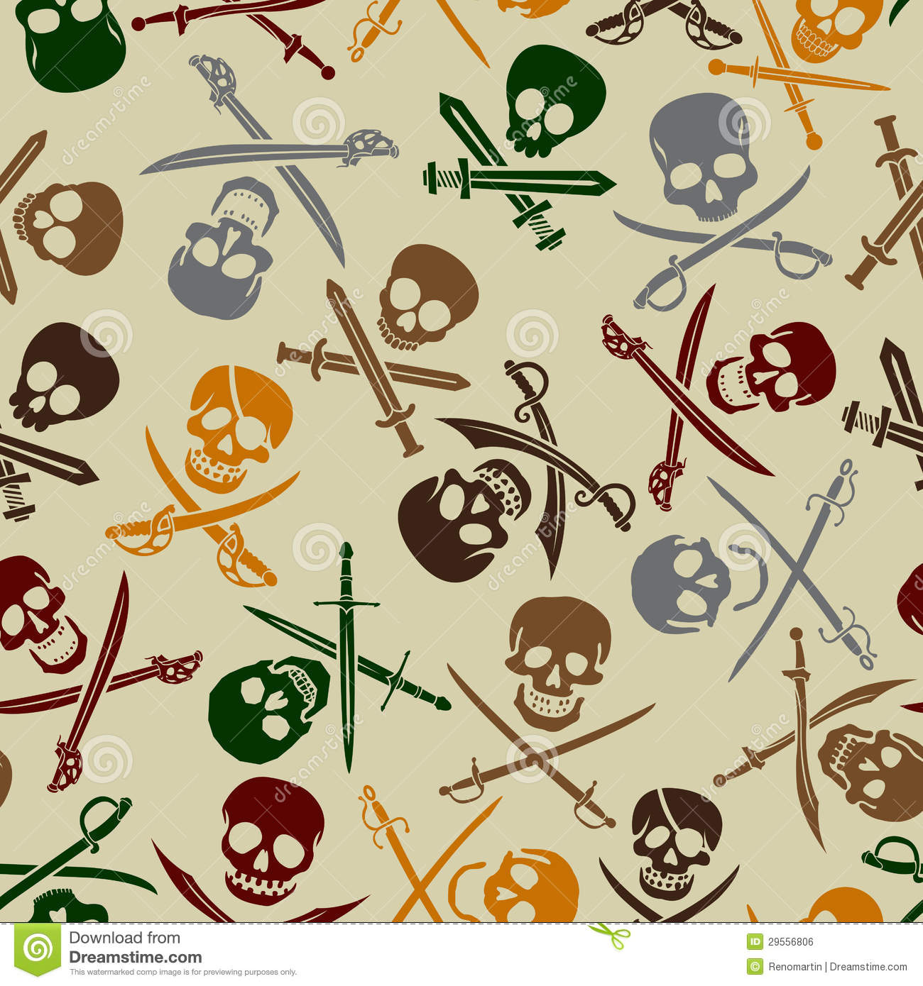 Seamless pattern of ballet dancers royalty free stock photography - Pirate Symbols Seamless Pattern Royalty Free Stock Image