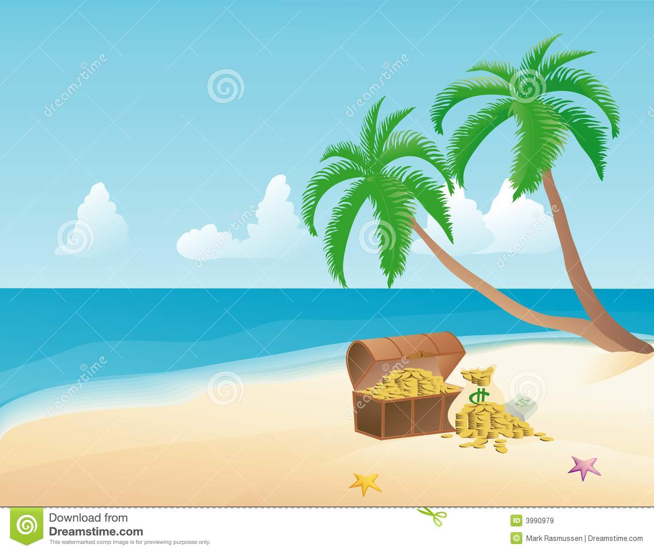 Island Beach People: Pirate Treasure Royalty Free Stock Images