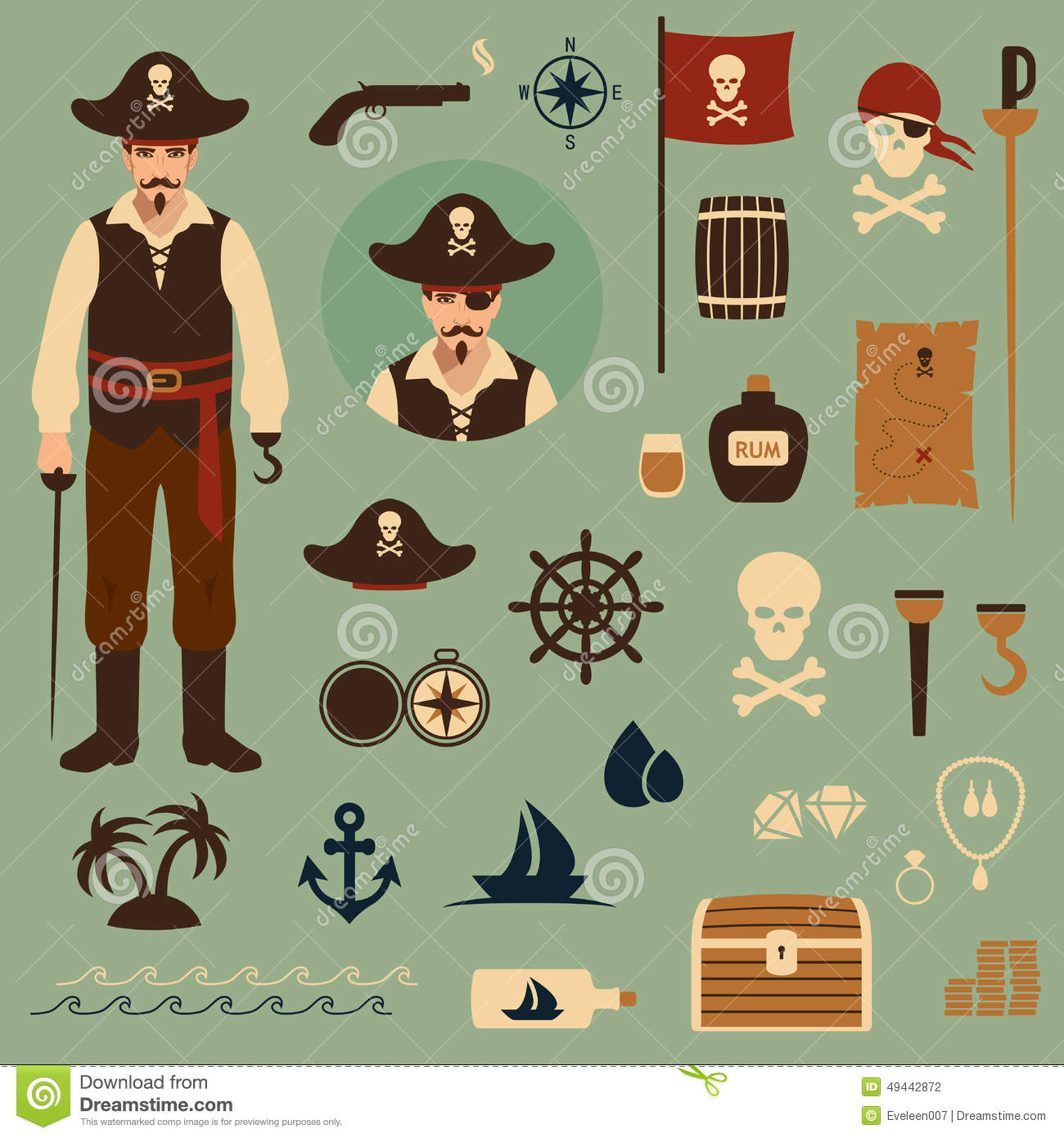Pirate Stock Vector - Image: 49442872