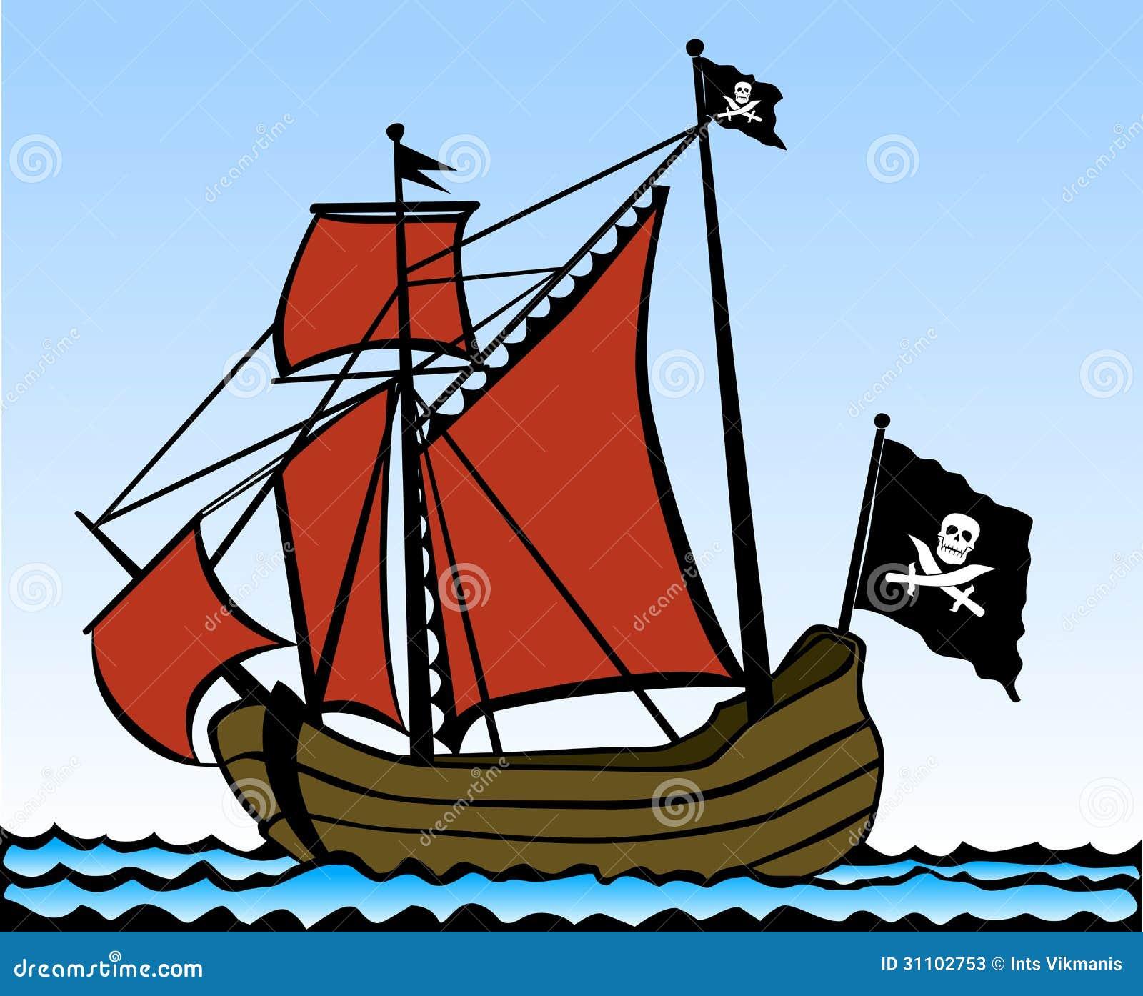 Favorit Piraten-Schiff vektor abbildung. Illustration von reiseflug - 31102753 FZ69