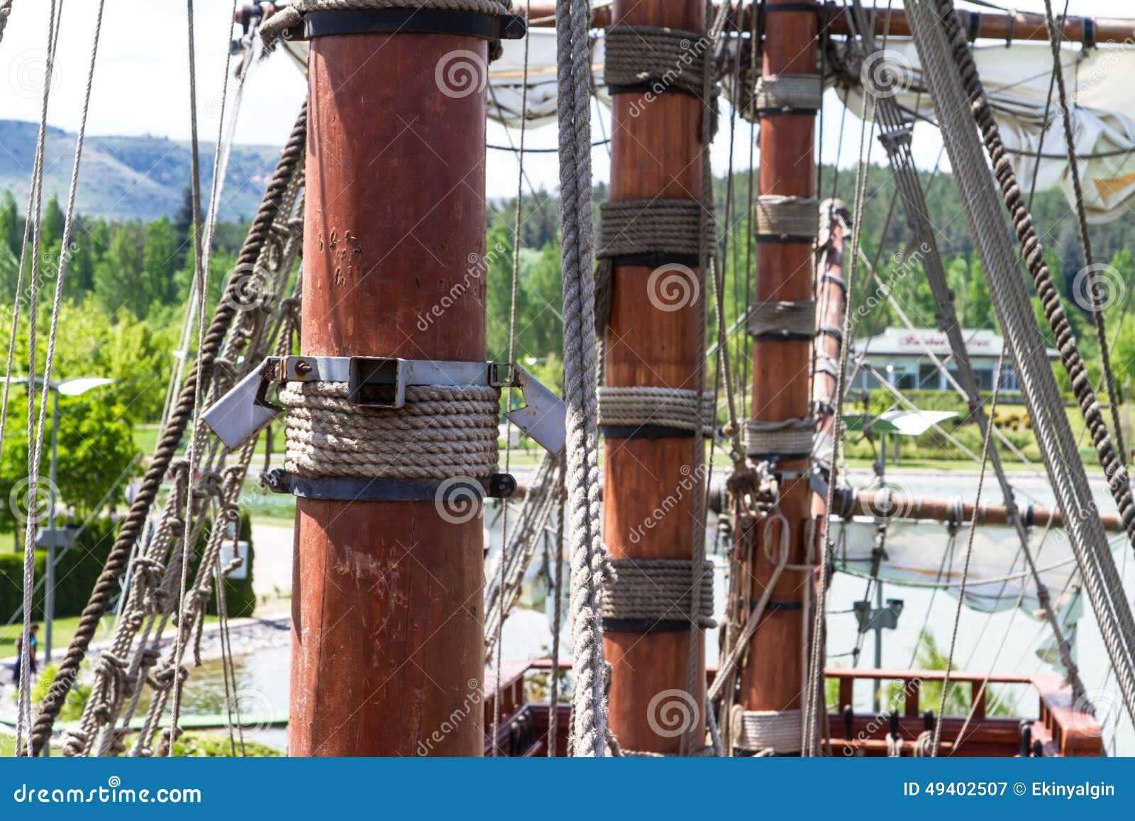 Download Piraten-Schiff im Park stockbild. Bild von garten, transport - 49402507