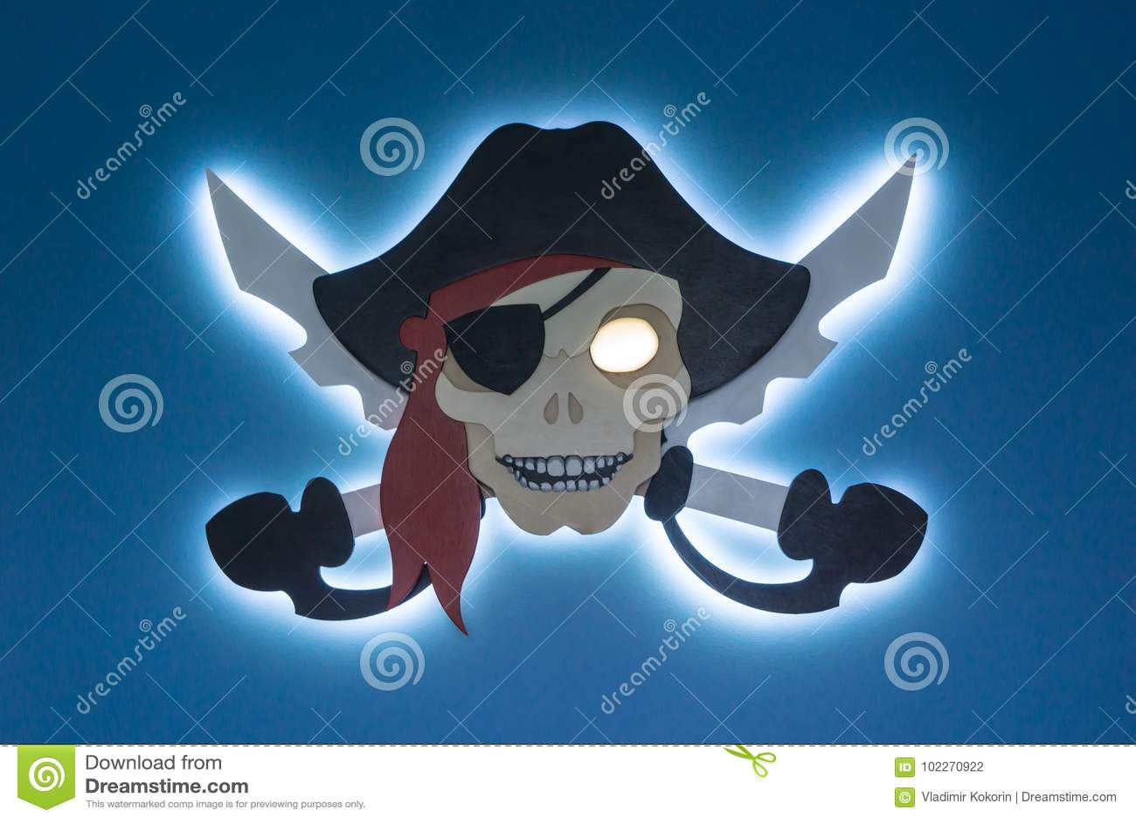 Piraterie électronique Le vol de la propriété intellectuelle Jolly Roger dans un style moderne Endroit pour votre texte