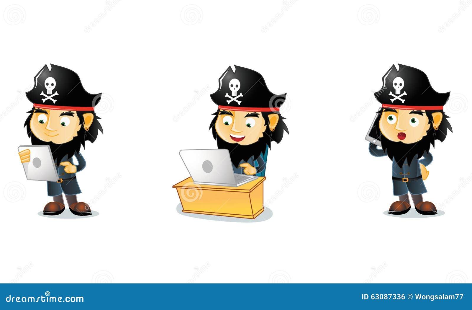 Download Pirates 3 illustration de vecteur. Illustration du amusement - 63087336