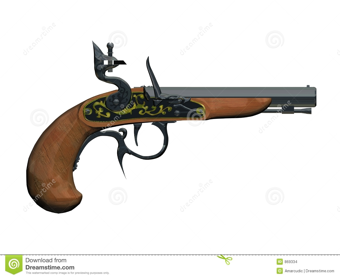 Pirates Gun Stock Images - Image: 869334