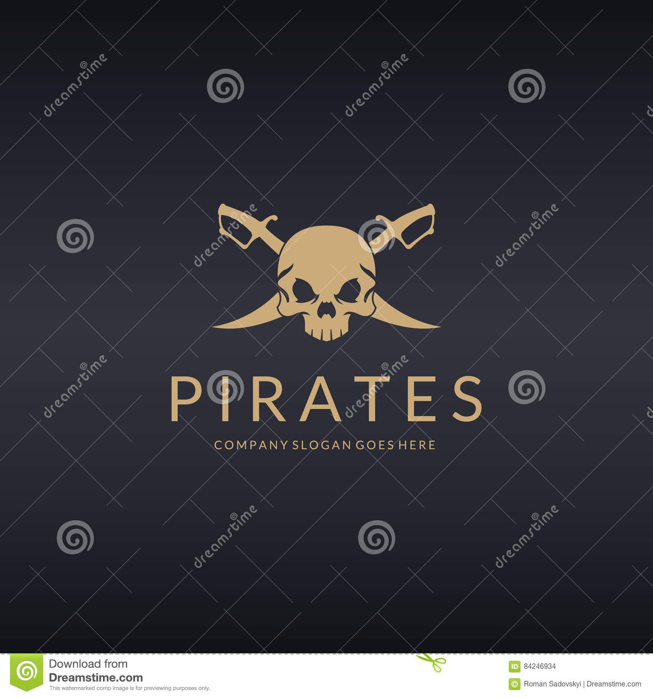 Pirates Logo Stock Vector Illustration Of Protect Monster