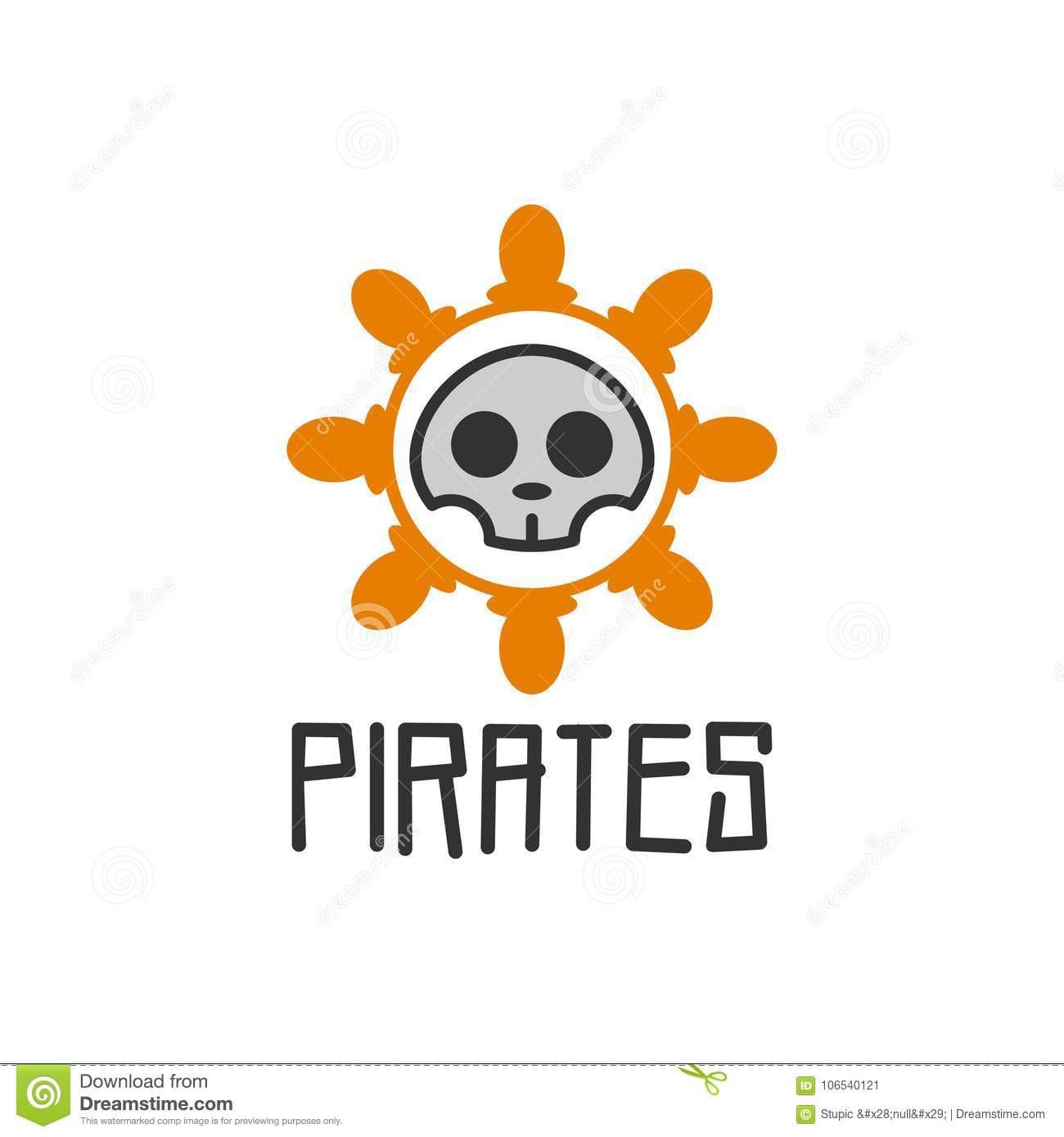 pirates logo vector art logo template and illustration stock