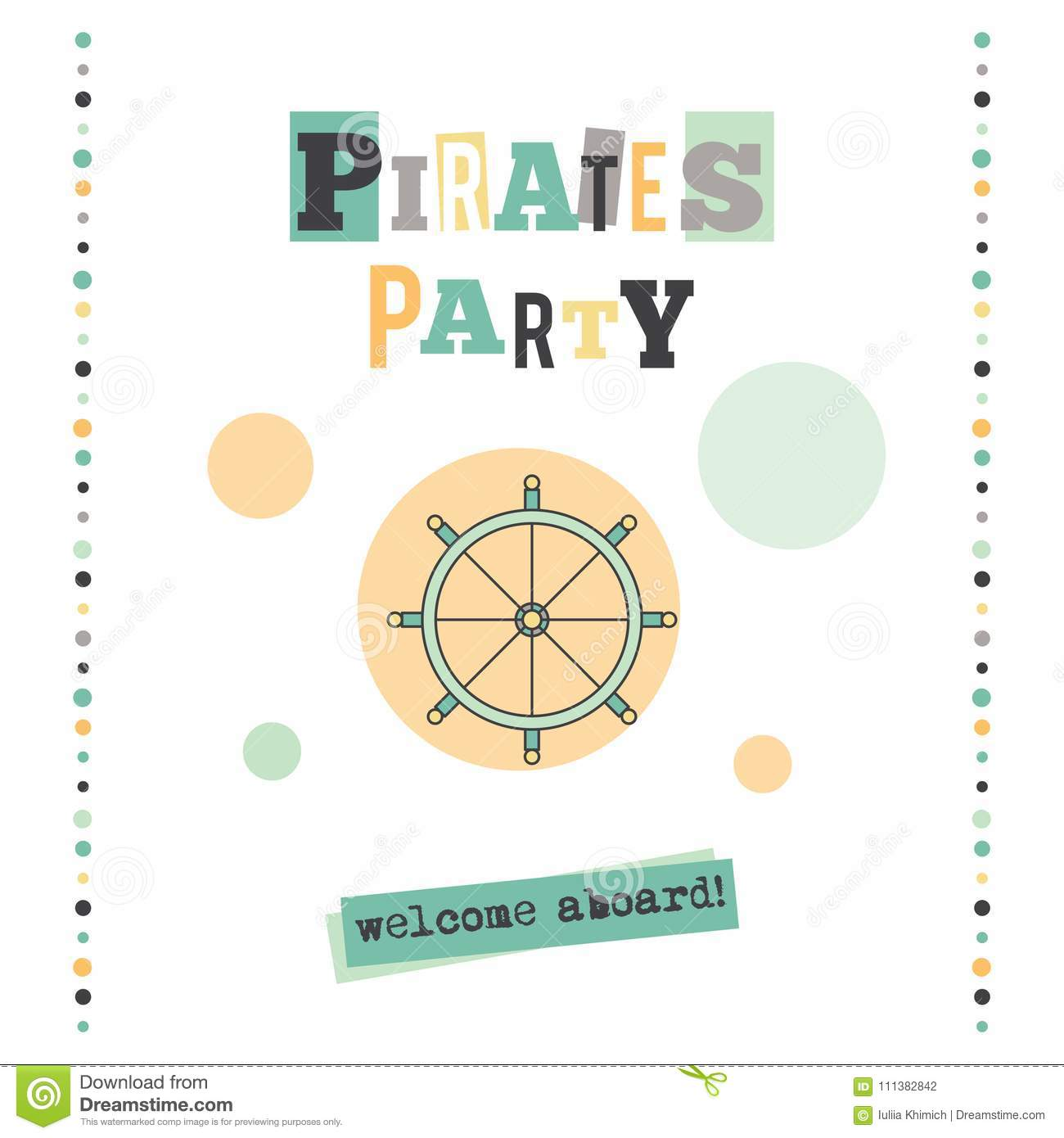Pirates party banner stock vector illustration of icon 111382842 pirates party vector vertical banner template the tour announcement for travel agency products tour brochure excursion banner simple mono linear modern maxwellsz