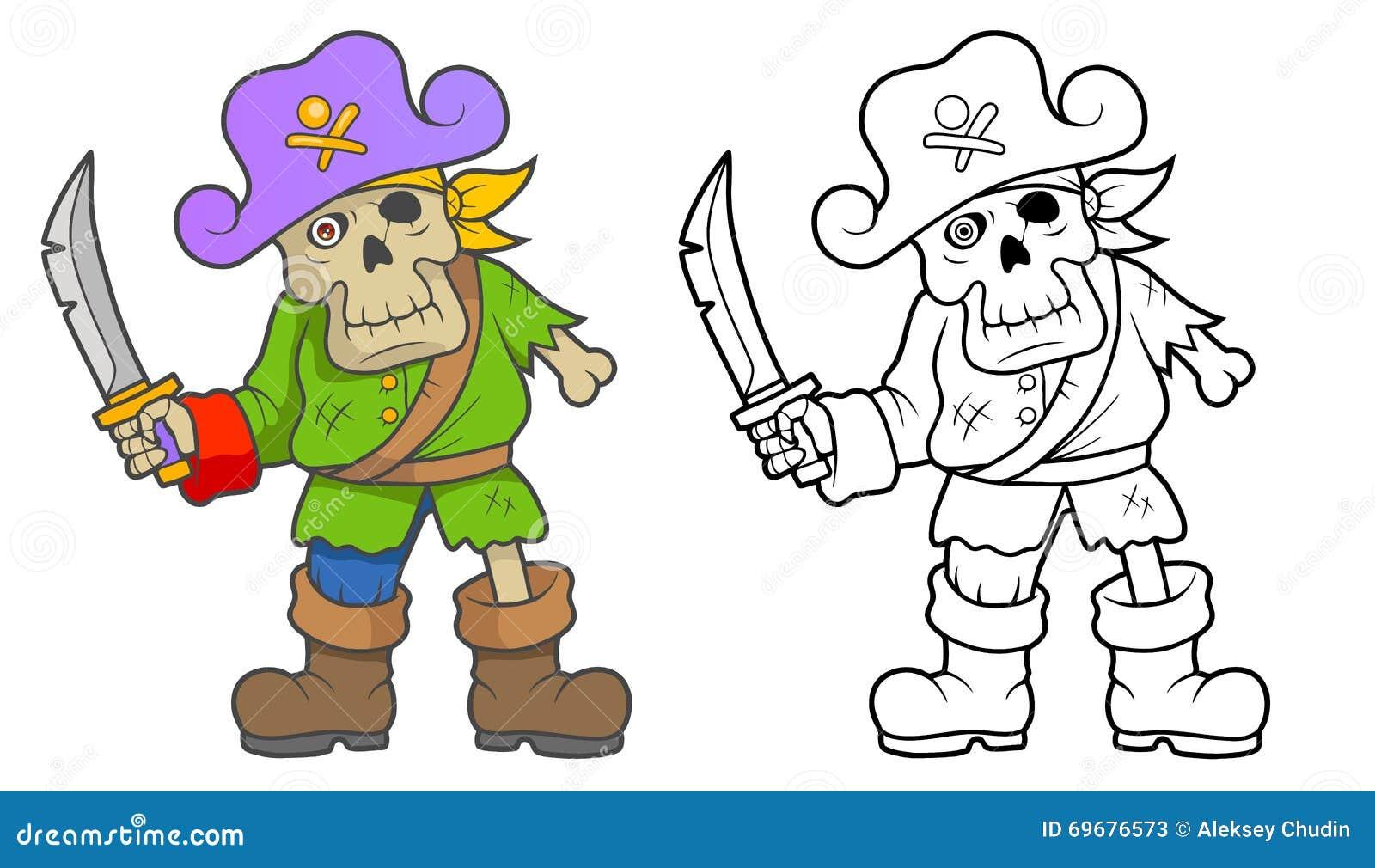 Piratkopiera levande död med ett svärd