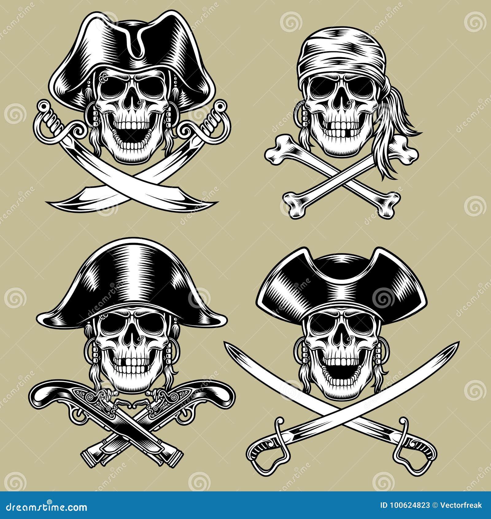Piratkopiera skallar