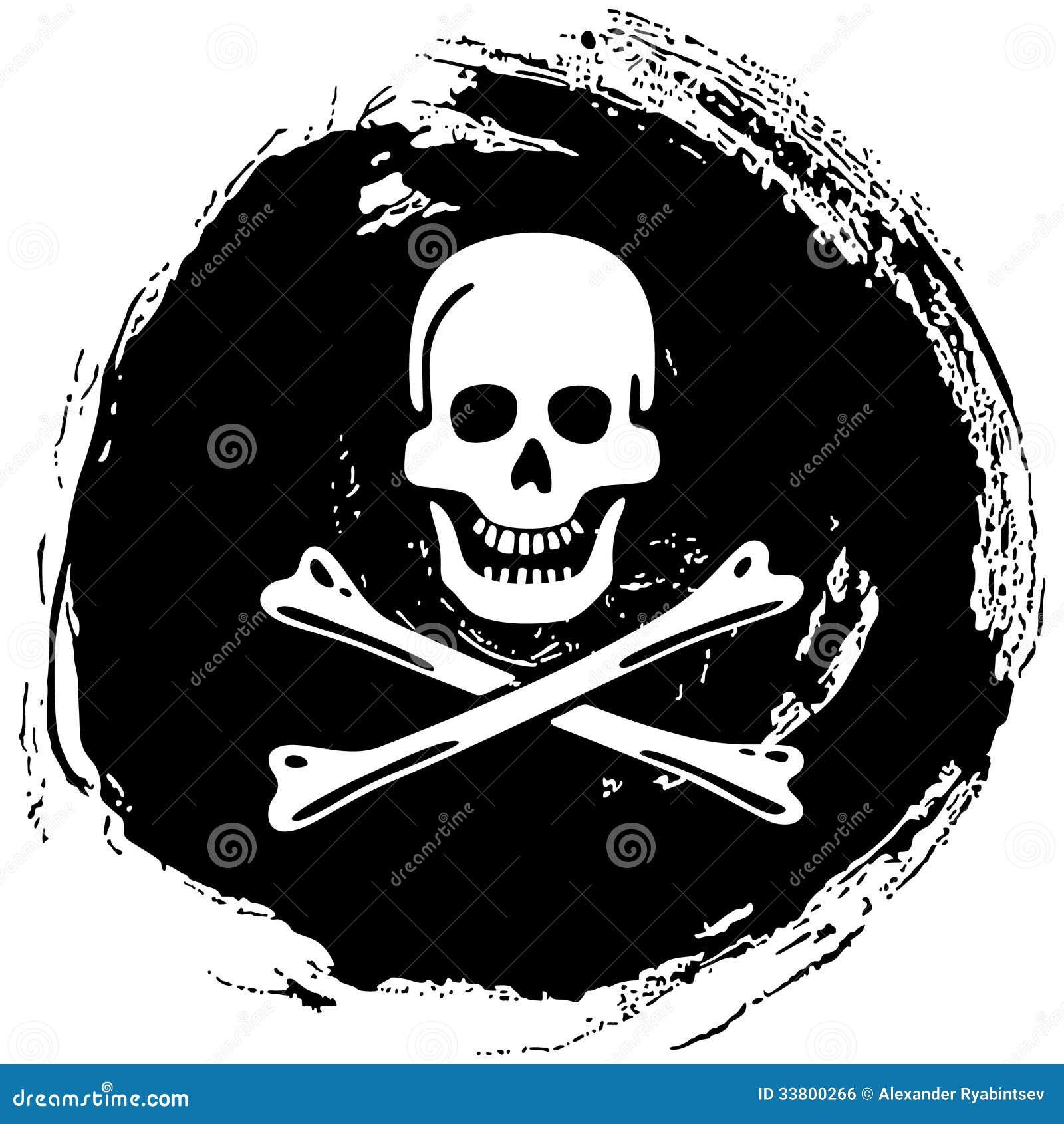 Piratkopiera symbolet glade roger