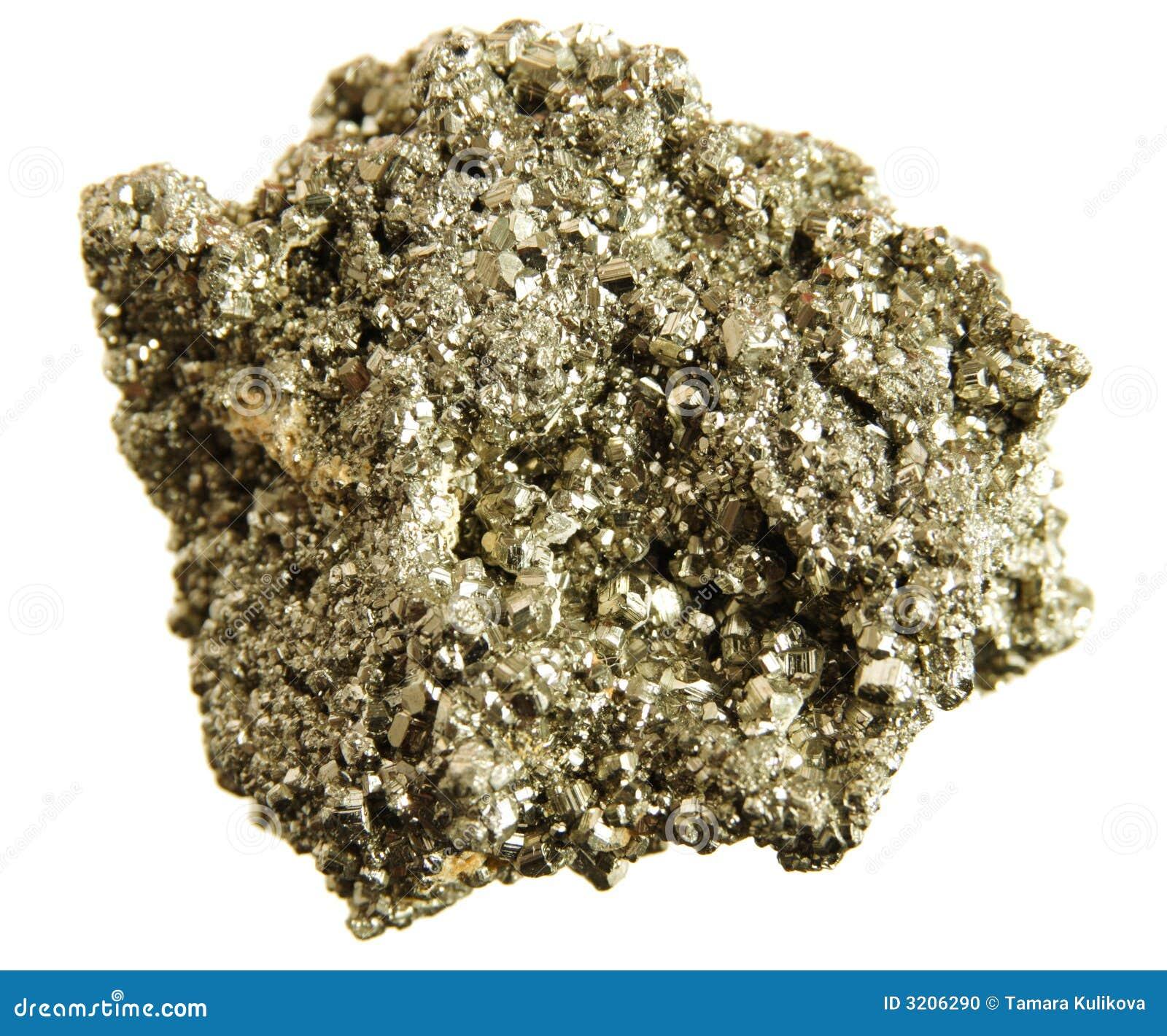 Pirite (oro dello sciocco) isolata