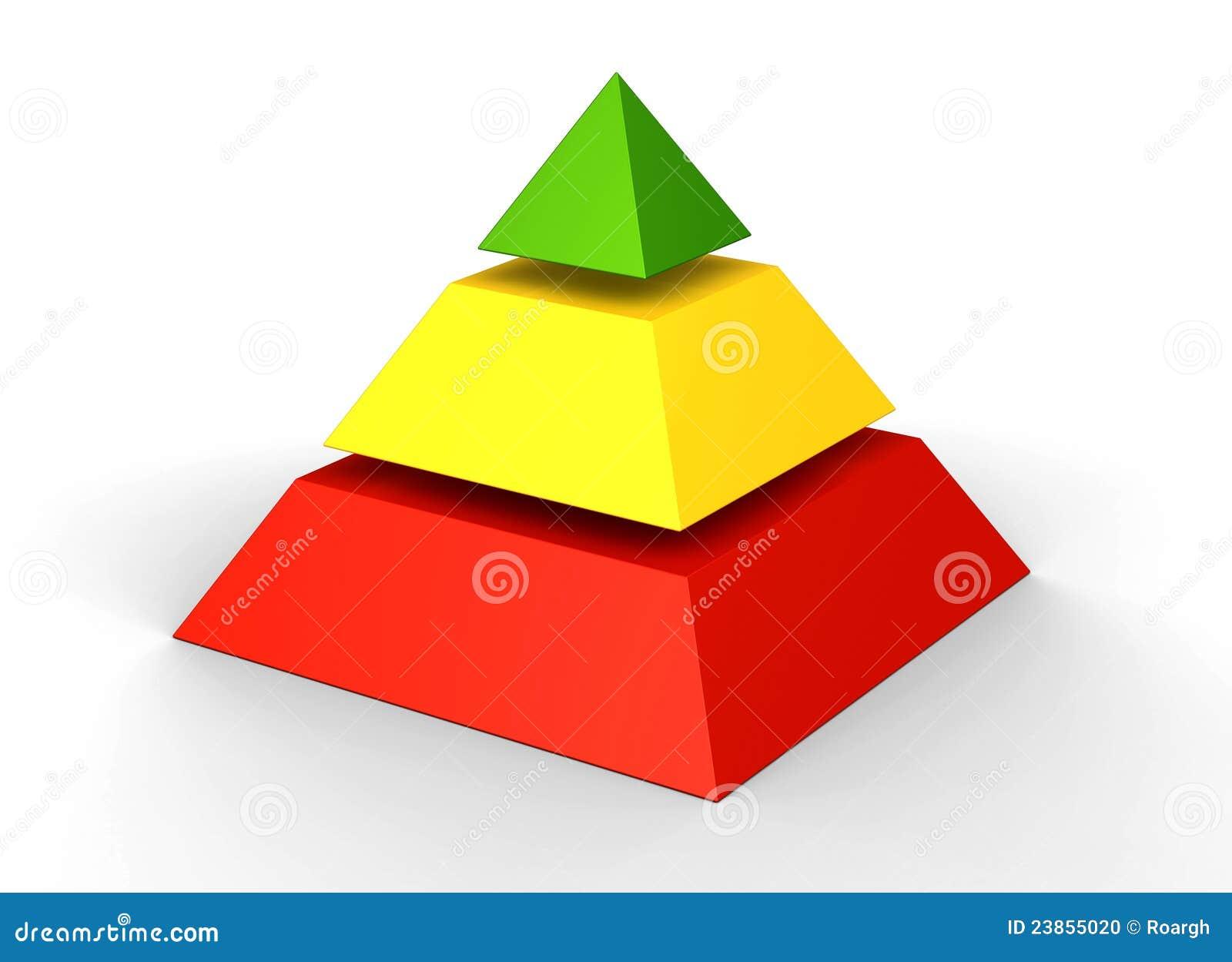 Icono De Ubicacion Icono De Ubicacion Carta Lápiz Png Y: Pirámide De Tres Niveles Foto De Archivo