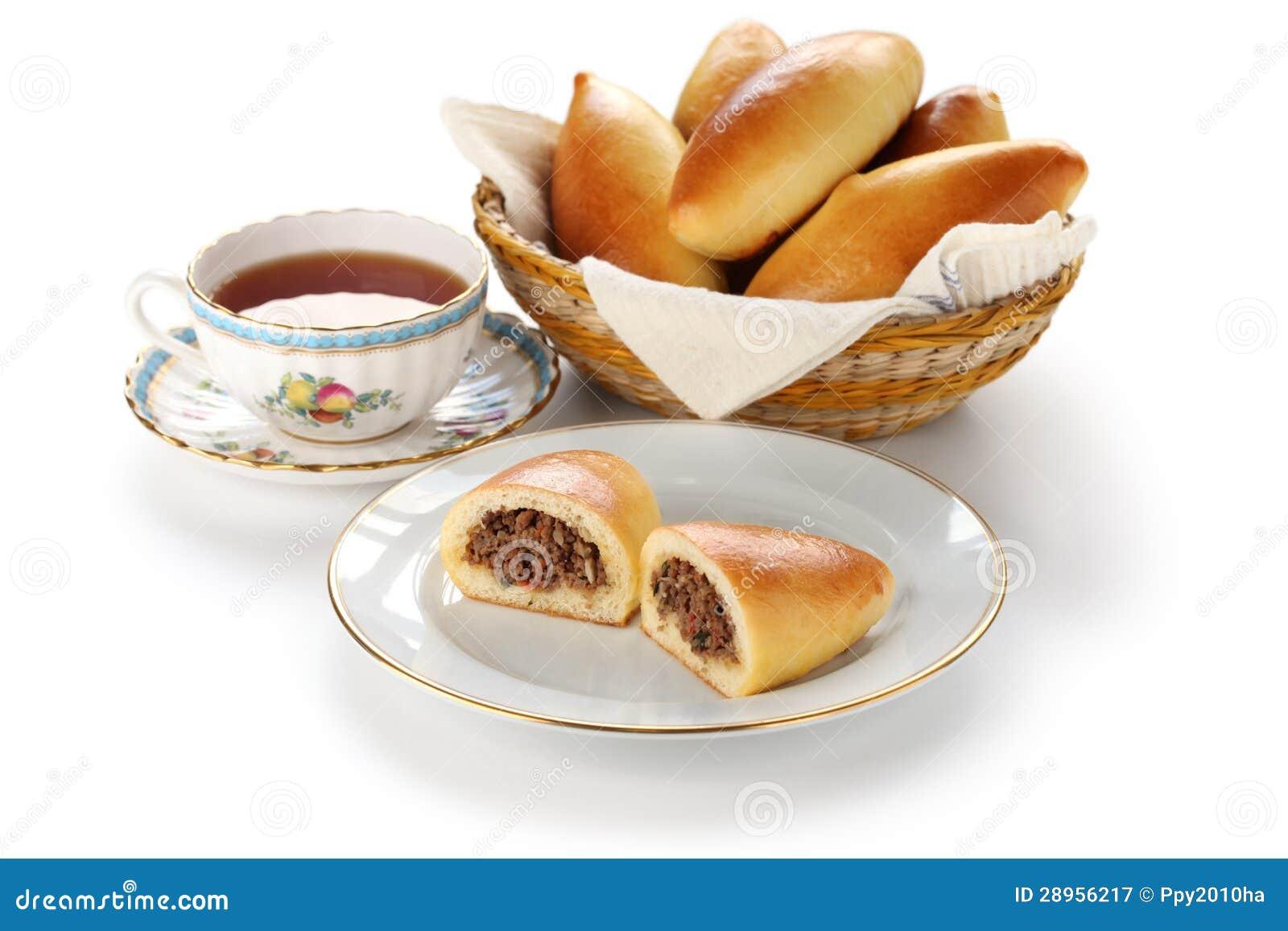 Piroshki, pirozhki, rosyjski jedzenie
