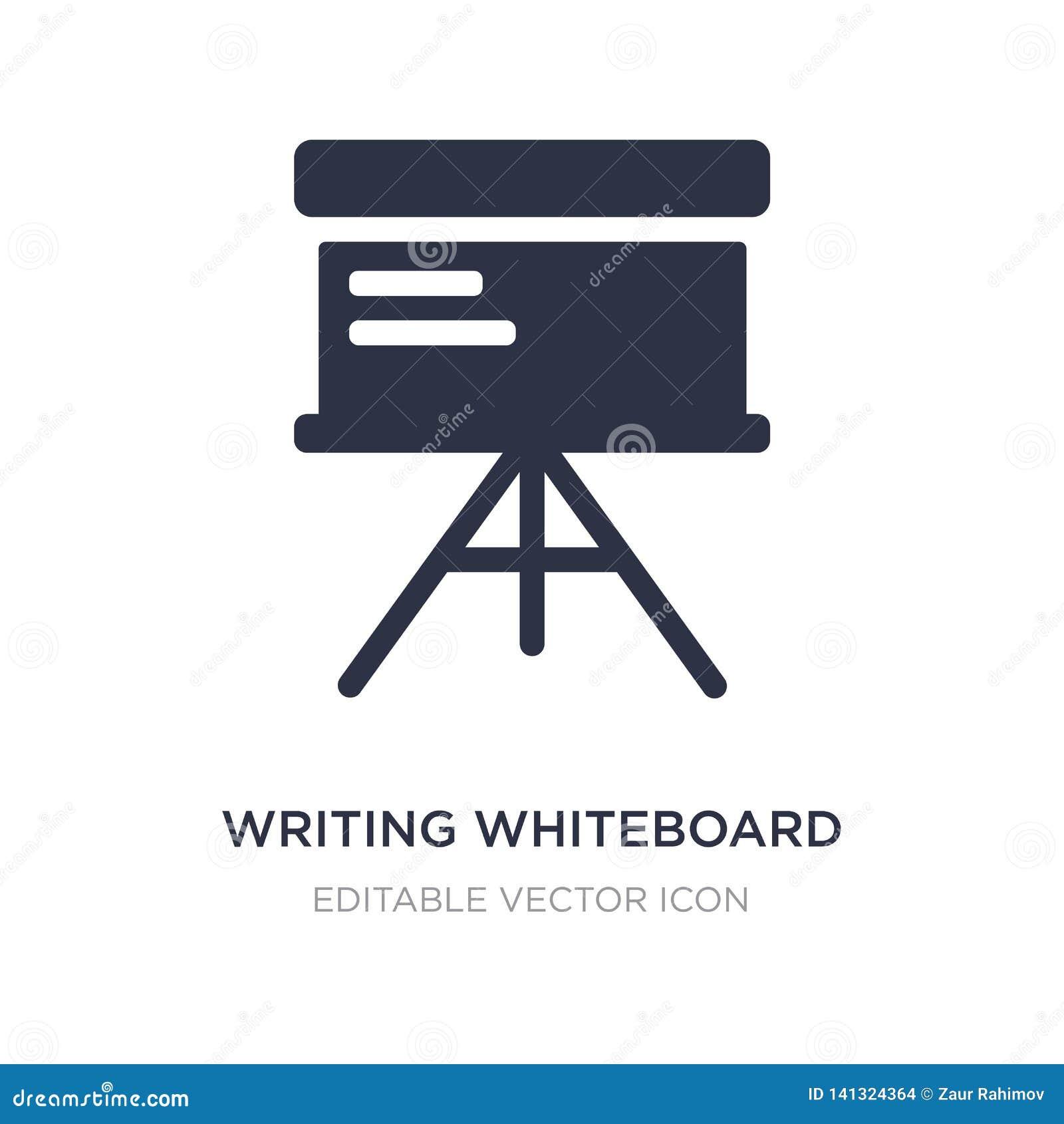 Pisać whiteboard ikonie na białym tle Prosta element ilustracja od edukacji pojęcia