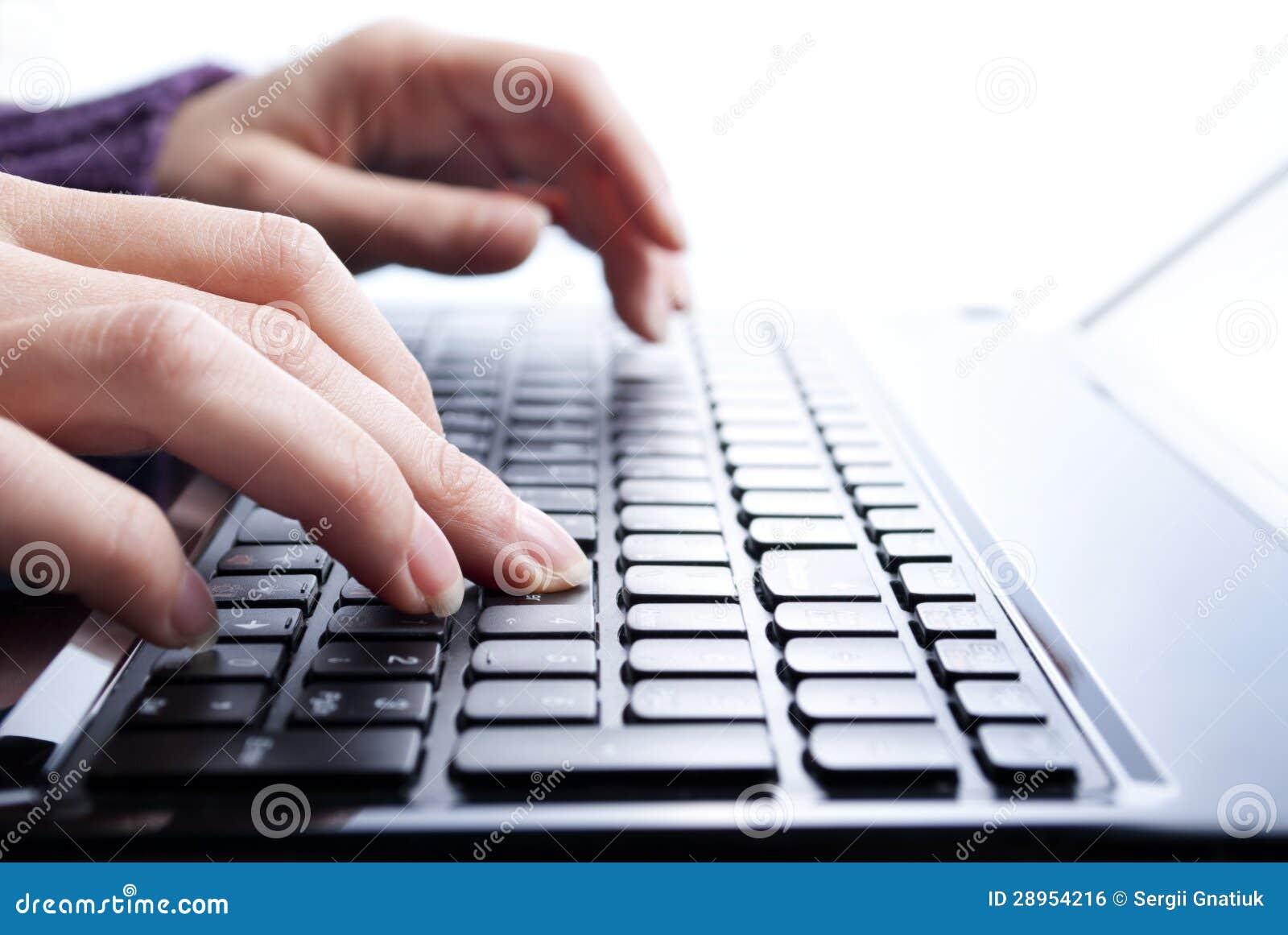 Pisać na laptopie