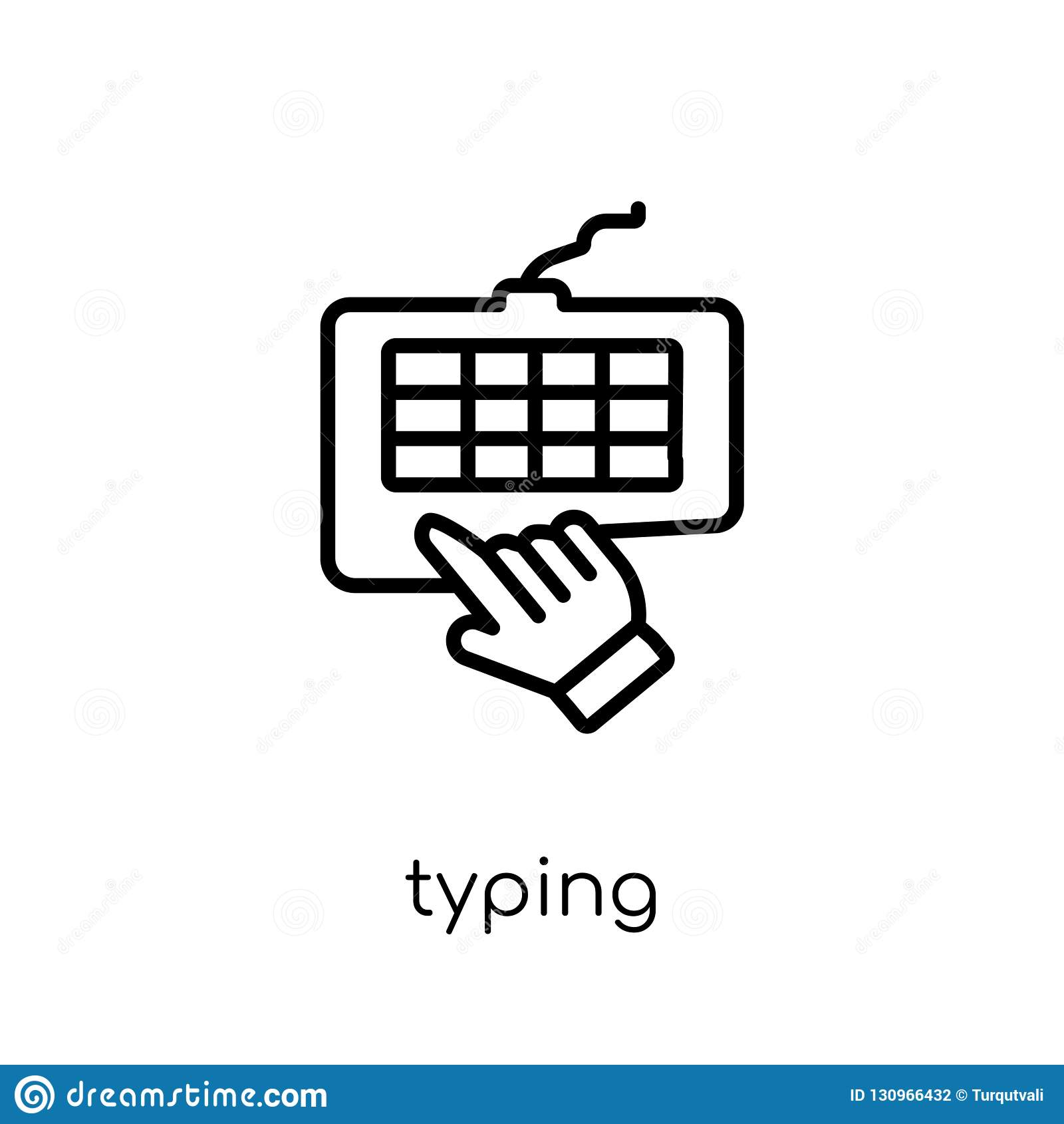 Pisać na maszynie ikona od kolekcji