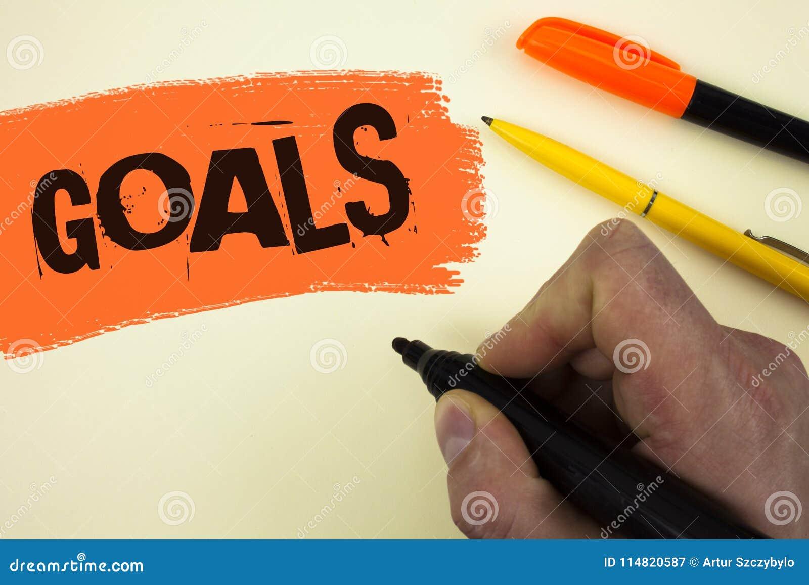 Pisać nutowych pokazuje celach Biznesowa fotografia pokazuje Pragnących osiągnięcia Celuje Co chcesz osiągać w przyszłości pisani