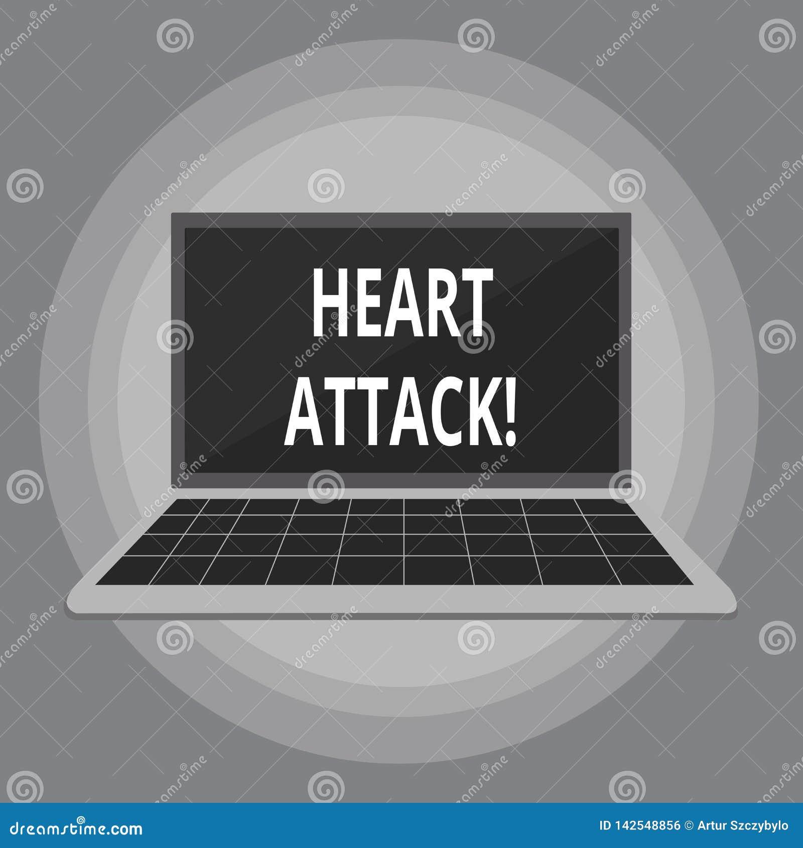 Pisać nutowym pokazuje atak serca Biznesowa fotografia pokazuje nagłego występowanie wieńcowy zakrzepica wynikający w śmierci