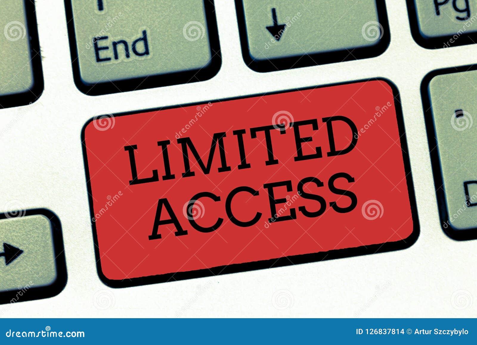 Pisać nutowym seansie Ograniczony Dostęp Biznesowa fotografia pokazuje Mieć dostęp ograniczającego zupełnie mała liczba punkty