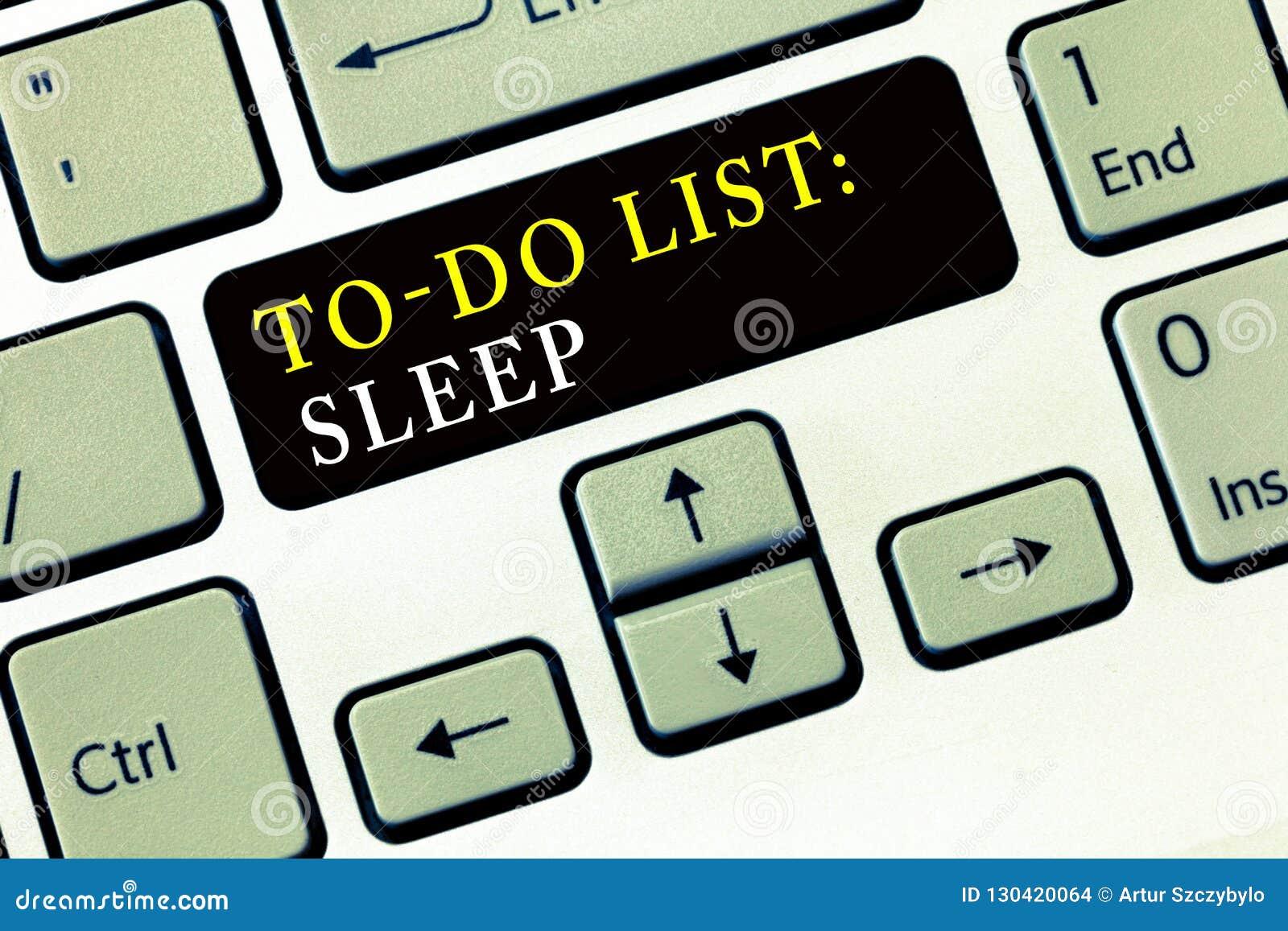 Pisać nutowym seansie Robić lista sen Biznesowa fotografia pokazuje rzeczy być robić priorytetu przedmiotem jest brać odpoczynek