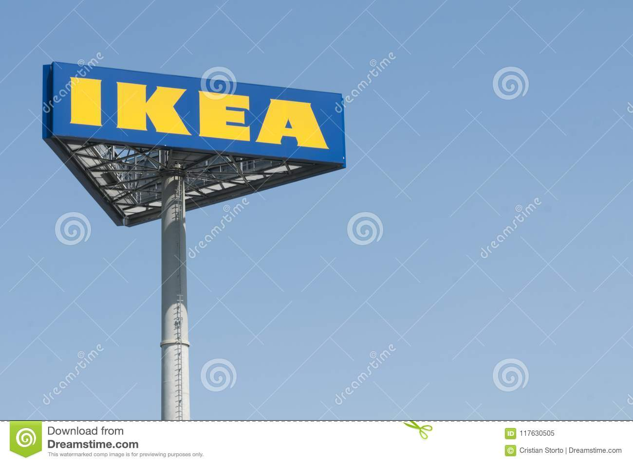 Ikea Store Pole Sign Editorial Image Image Of Advertising 117630505