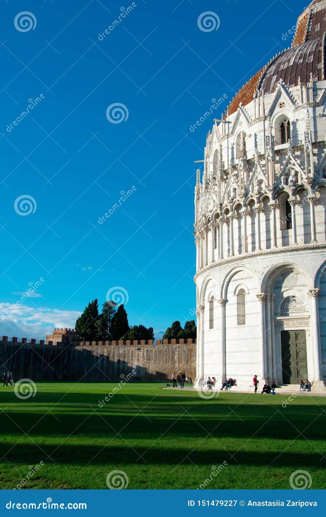Pisa Baptistery i Pisa, Italien