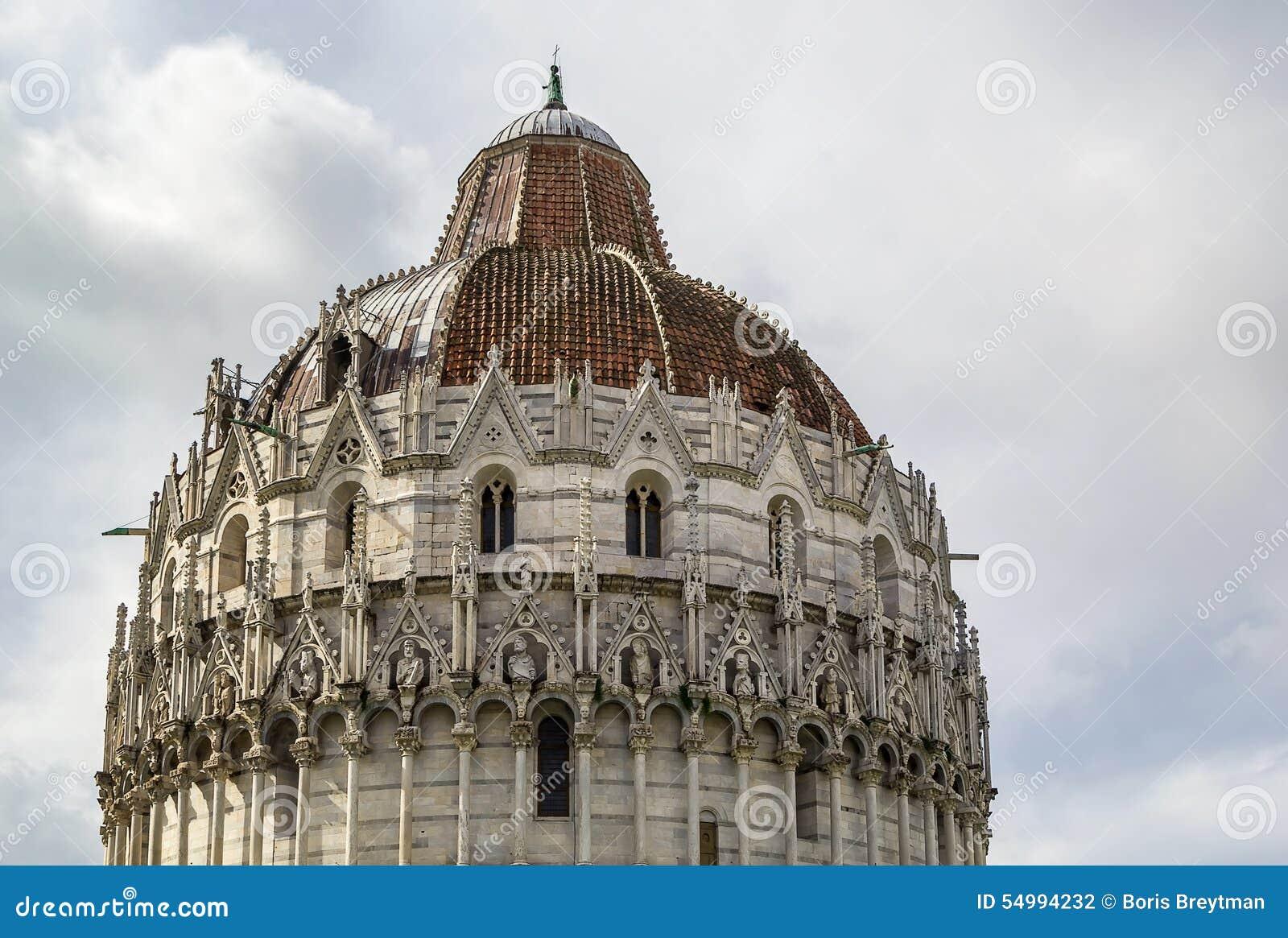 Pisa dopkapell, Italien