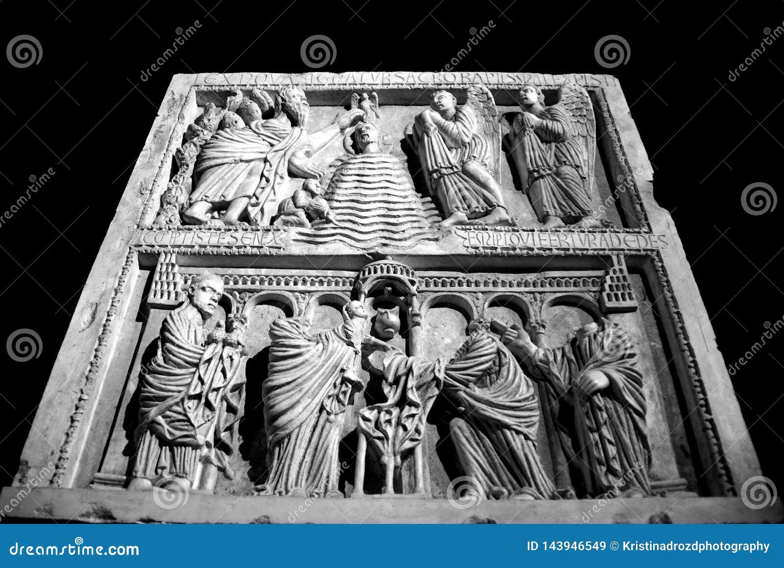 PISA ITALIEN - CIRCA FEBRUARI 2018: Sinopie museum på fyrkanten av mirakel
