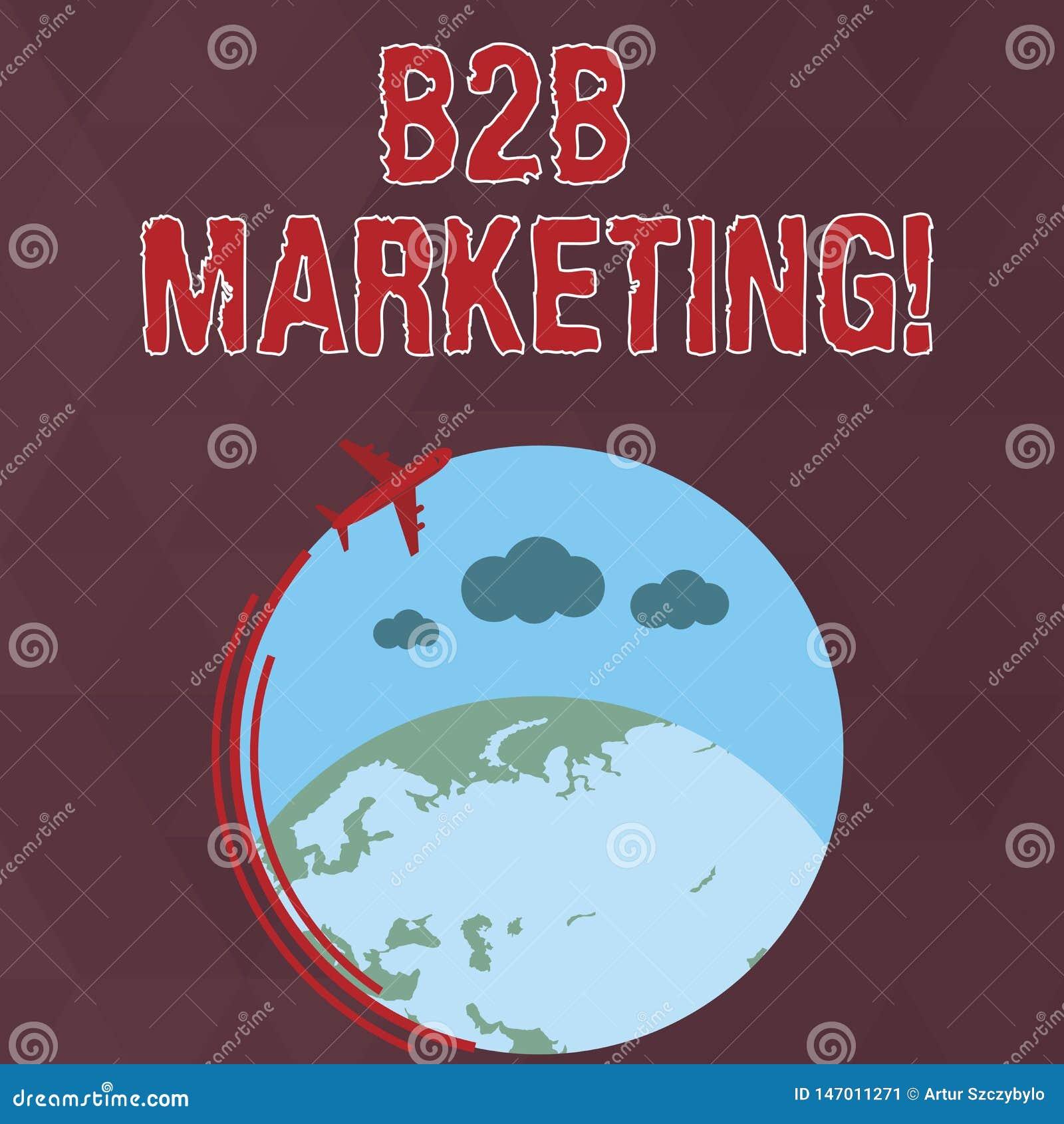 Pisa? nutowym pokazuje B2B marketingu Biznesowa fotografia pokazuje marketing produkty biznesy lub inne organizacje