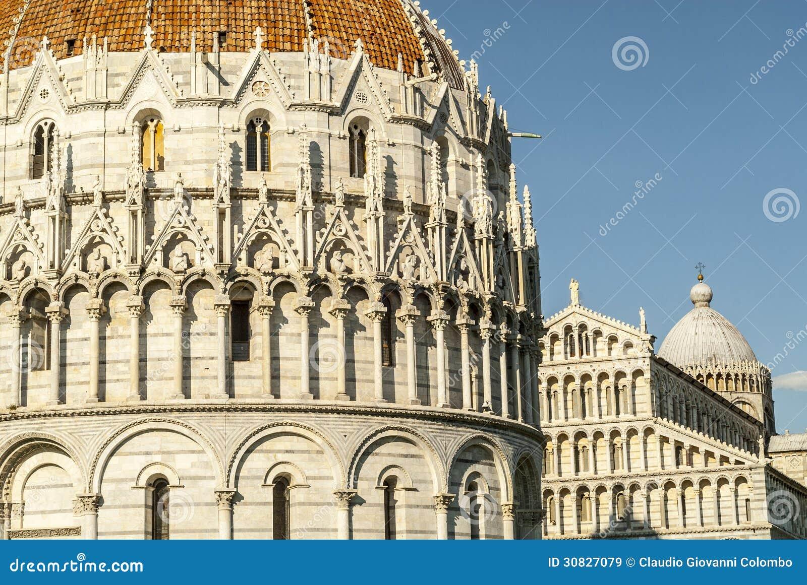 Pisa (Toscana) - cattedrale e battistero