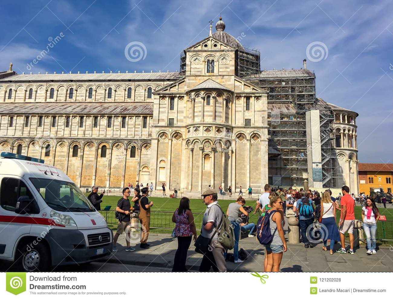 Square of cathedral Pisa Italy