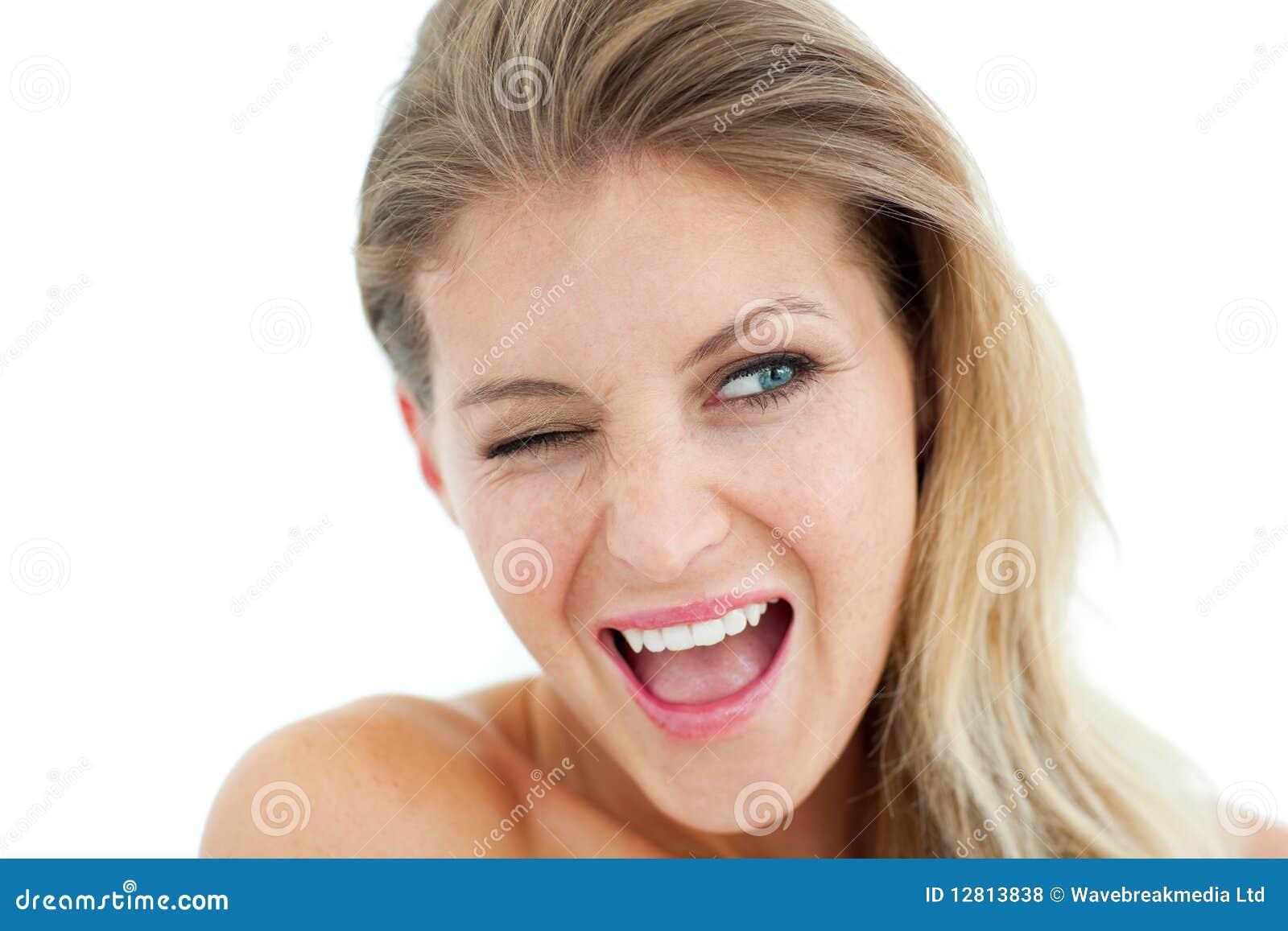 Pisc alegre da mulher