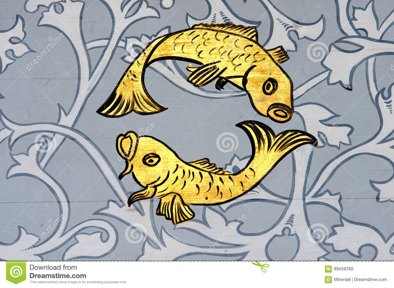 Pisces The Fish Zodiac Sign Stock Photo Image Of Graphic Zodiac