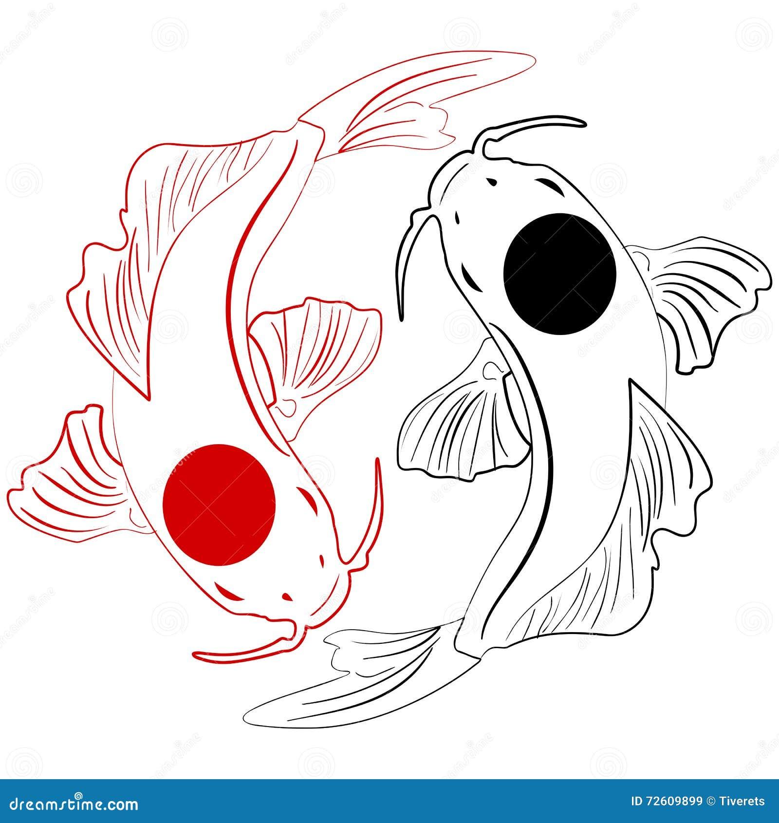 Pisces. Koi Fish. Chin...