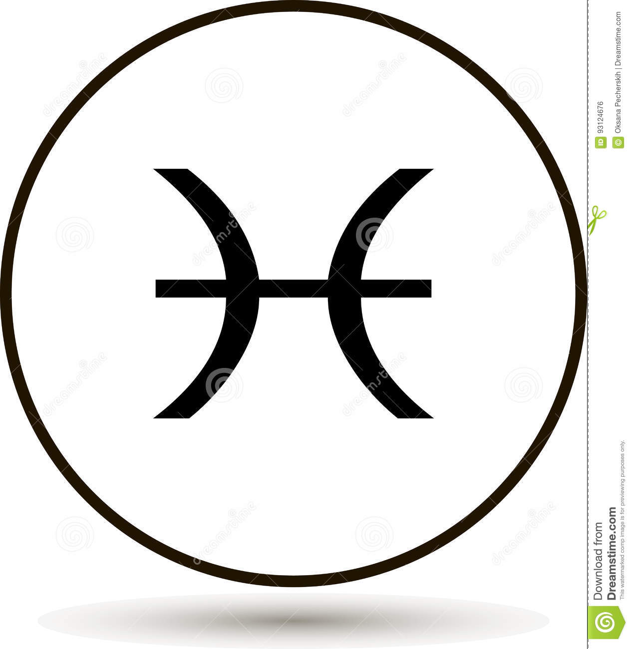 Pisces zodiac sign astrological symbol icon in circle stock vector pisces zodiac sign astrological symbol icon in circle biocorpaavc Choice Image