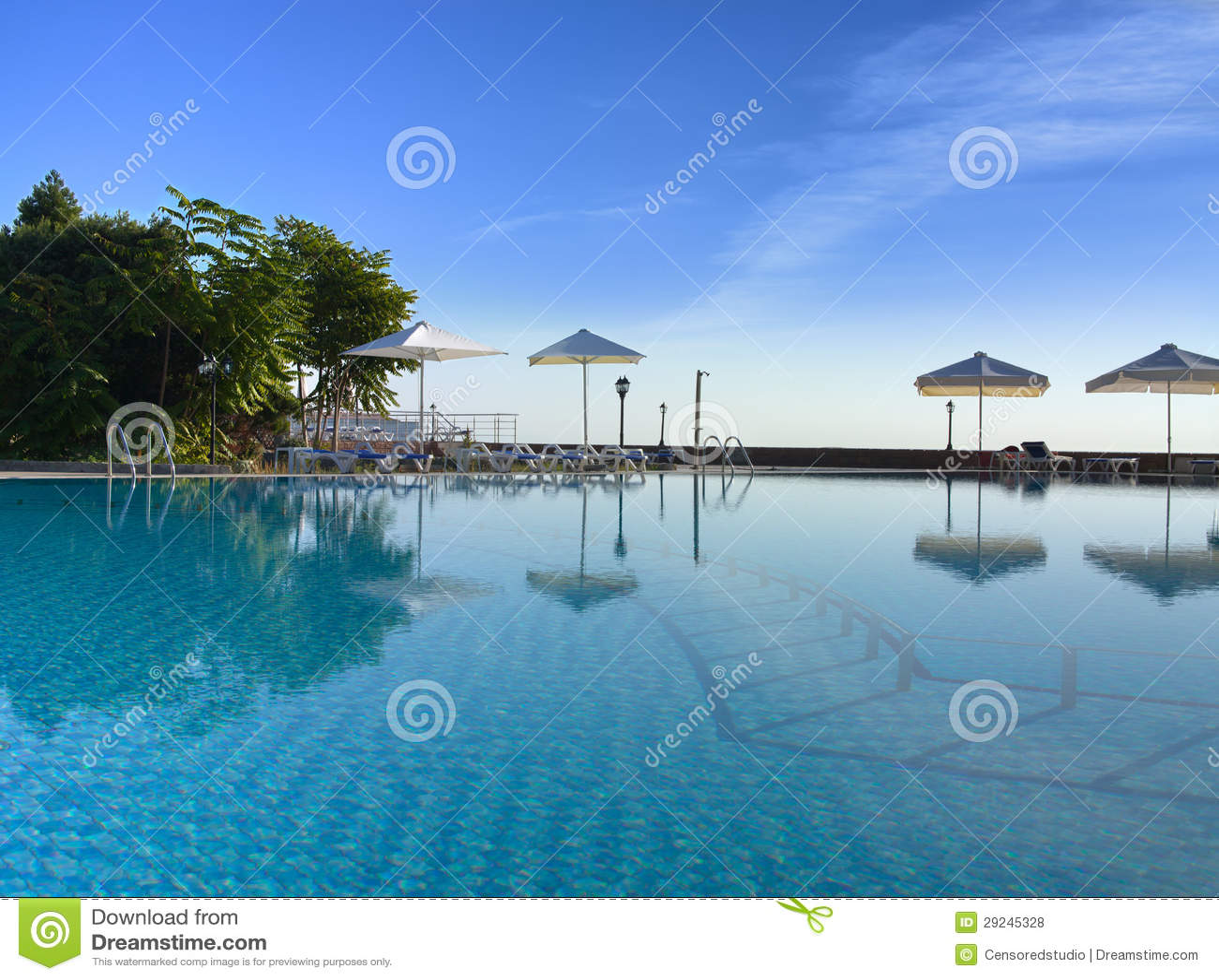 Download Piscina foto de stock. Imagem de destinos, palma, lazer - 29245328
