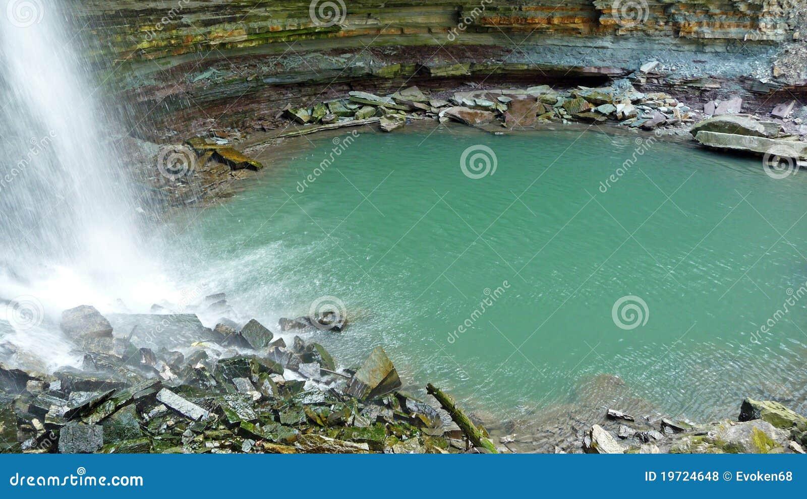 Piscina de la zambullida de la cascada