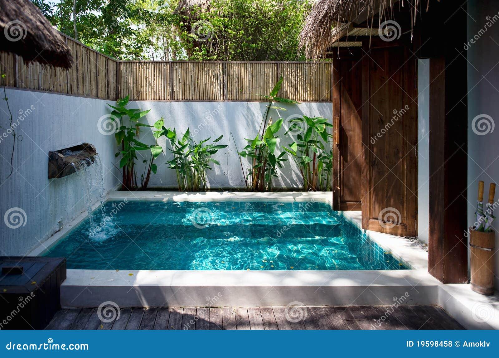 Piscina na casa de campo luxuosa fotos de stock royalty for In casa piscina