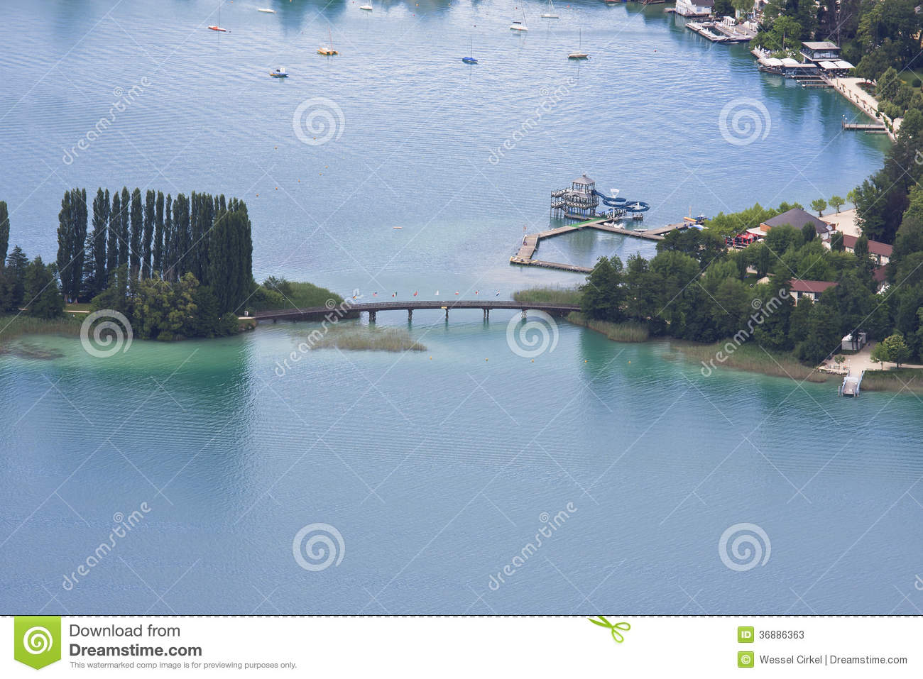 Download Piscina Wörthersee In Austria Immagine Stock - Immagine di europa, barca: 36886363