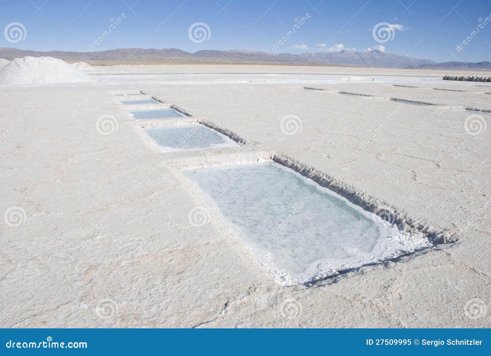 Piscinas de la extracci n de la sal foto de archivo libre for Piscinas de sal
