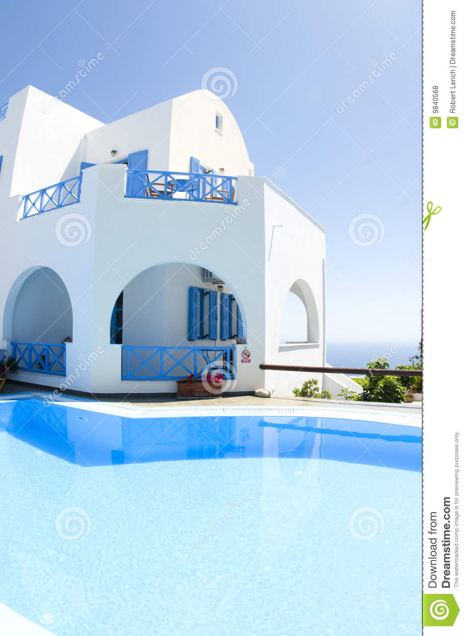 Piscine d 39 architecture grecque de cyclades photos libres for Architecture grecque