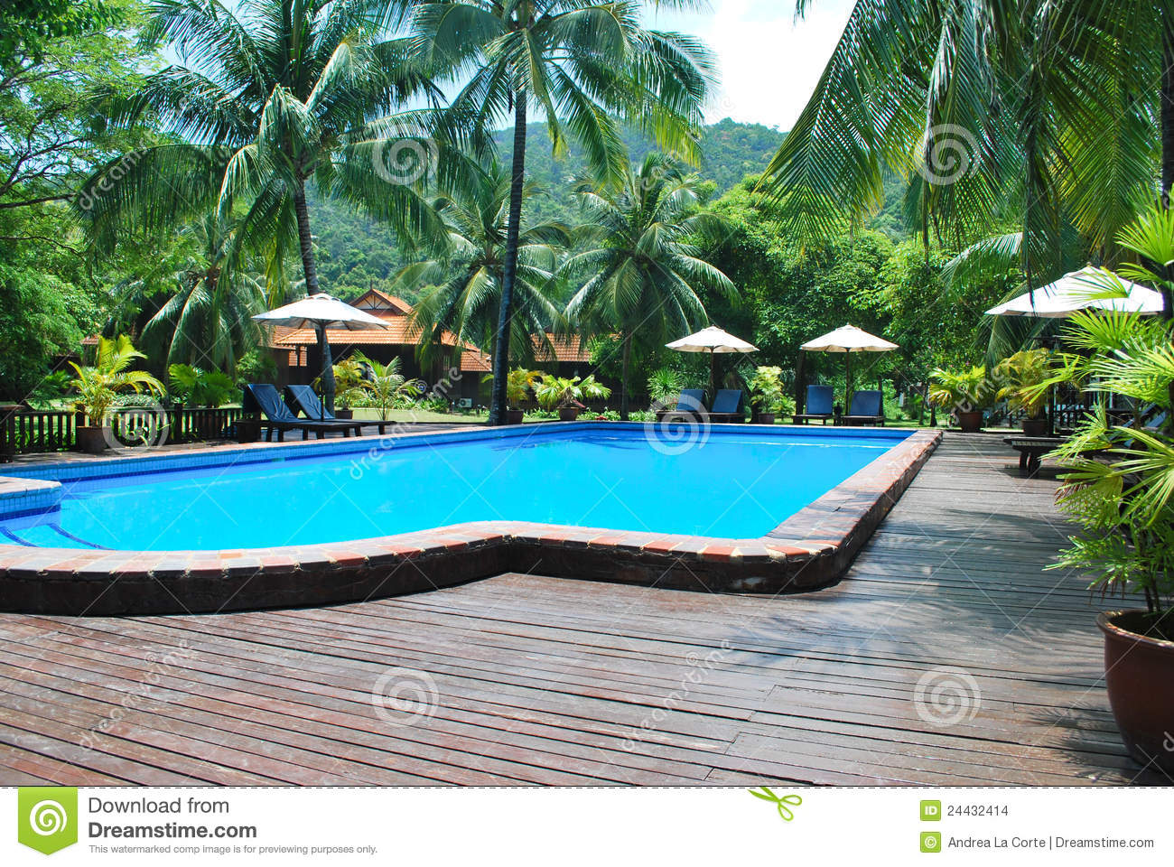 Piscine dans la ressource images stock image 24432414 for Piscine thermale