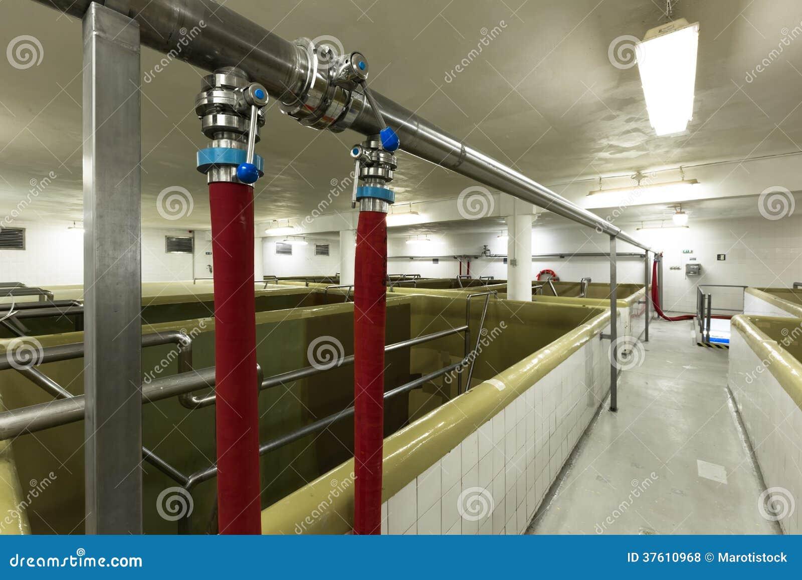 Piscine de fermentation