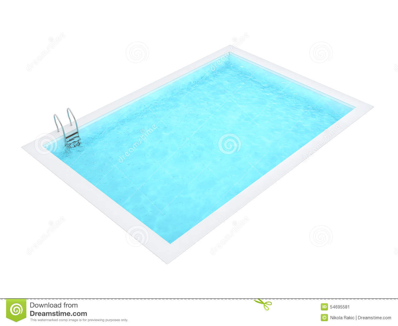Piscine de rectangle d 39 isolement sur le fond blanc for Fondos de piscinas dibujos
