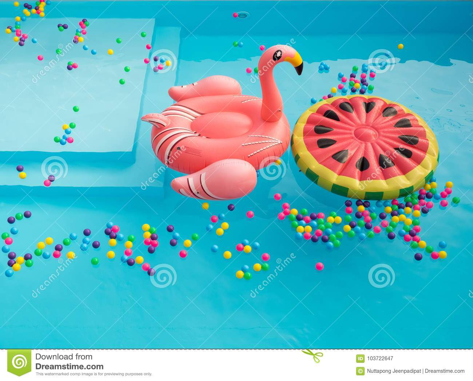 Piscine Floaties coloré