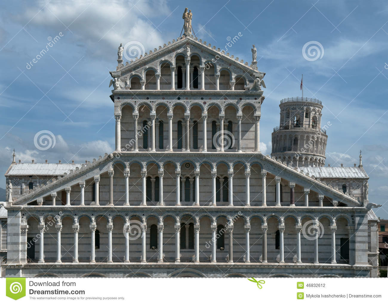 Pise architecture c l bre photo stock image 46832612 for Architecture celebre