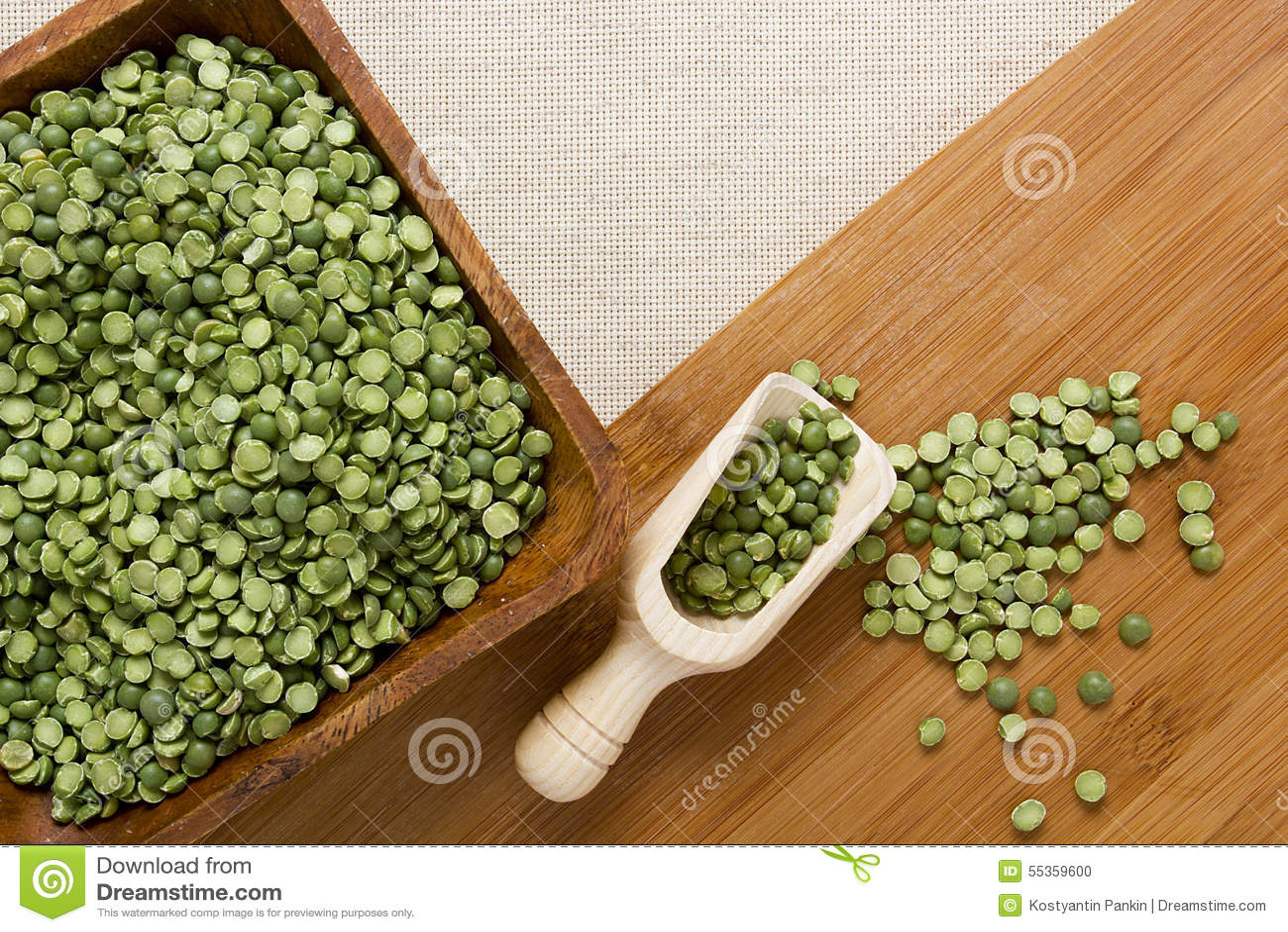 Piselli spaccati di verde