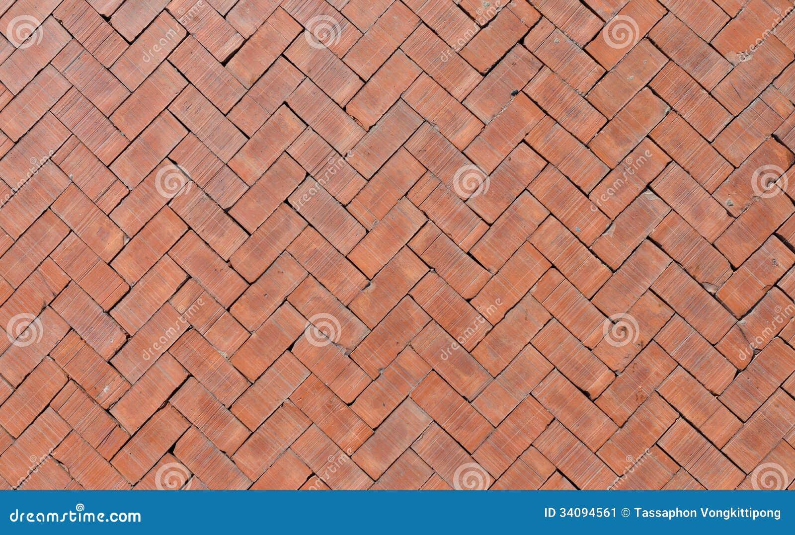 Piso anaranjado de los ladrillos imagen de archivo - Patio piso de ladrillo ...