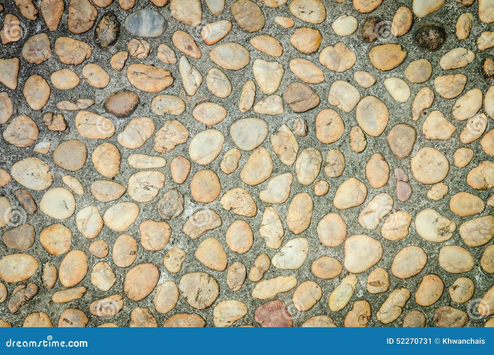 Piso construido de piedra natural imagen de archivo for Pisos con piedras pequenas