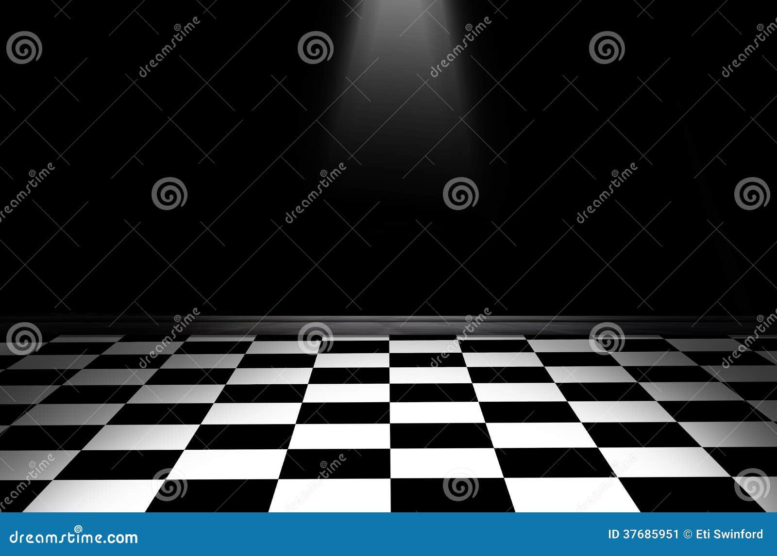 Piso a cuadros blanco y negro imagen de archivo imagen for Cuadros para entradas piso